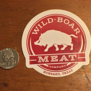 Wild Boar Meat Company Sticker